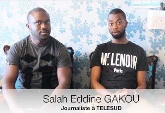 """Interview exclusive : Le Journaliste Salah Eddine GAKOU , le jeune franco-Sénégalais """" à TELESUD"""