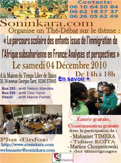 Thé-Débat le 04 décembre 2010 - Cliquez pour en savoir +