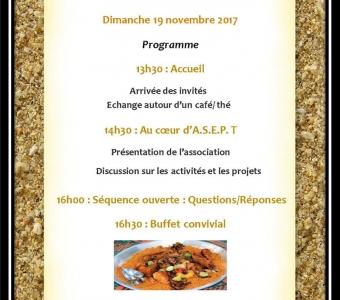 Journées de rencontre de l'ASEPT (Association Santé Education Prévention à Teichibé) les 18 et 19 Novembre 2017