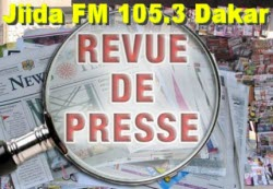 Revue de presse de la radio Jiida FM 105.3 Dakar du samedi 18 aot 2012