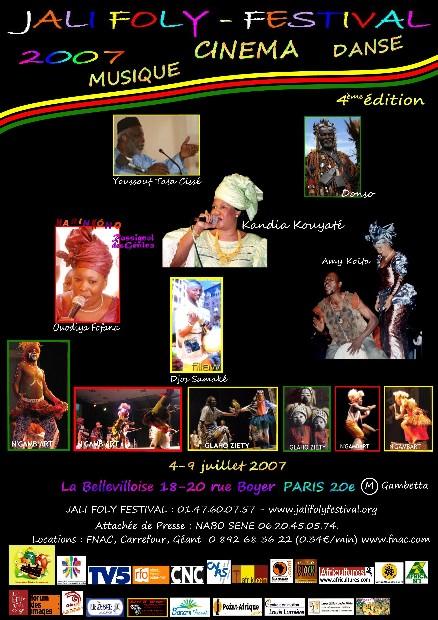 JALIFOLY FESTIVAL du 4 au 9 juillet 2007