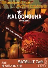 KALOGNOUMA : Afro-funk mandingue : Jeudi 19 avril 2007