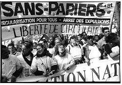 Manifestation pour les sans papiers
