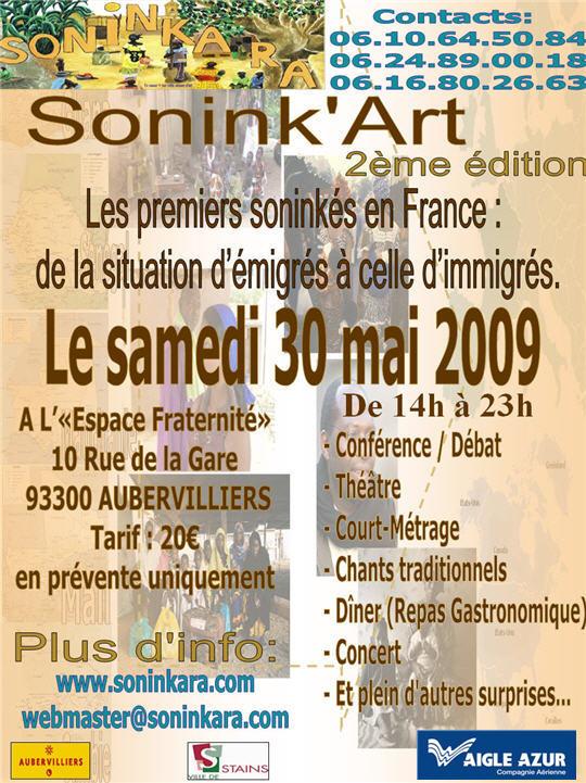 Sonink'ART 2009, c'est le samedi 30 Mai 2009